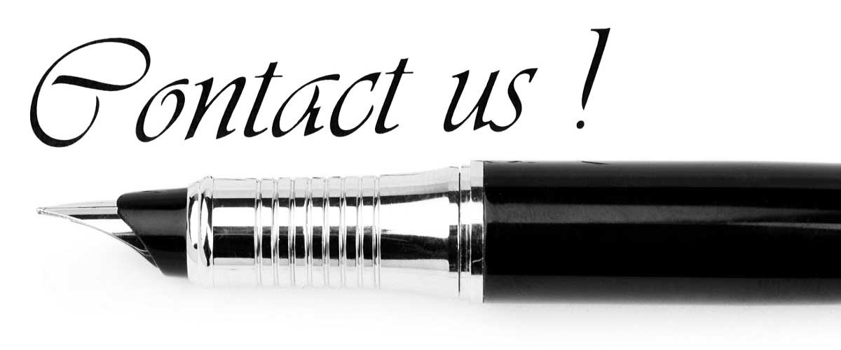 "Pen and ""Contact us"" message on white"