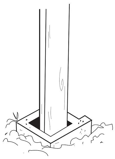 Just so you can advert those silly building permits that may be needed, think about building the foundation low enough and the shed height too, so that you do not need to pour any concrete. One idea that you could use, is to use some cinder blocks to help secure the 4 by 4 posts.