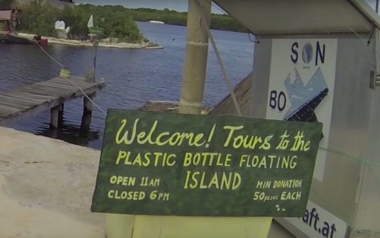 An Island Made From 100,000 Plastic Bottles