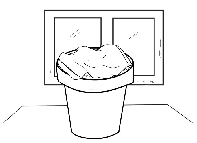Allow the pot to dry. Place the pot in a dry place with pleanty of space to allow the water to properly evaporate outward.