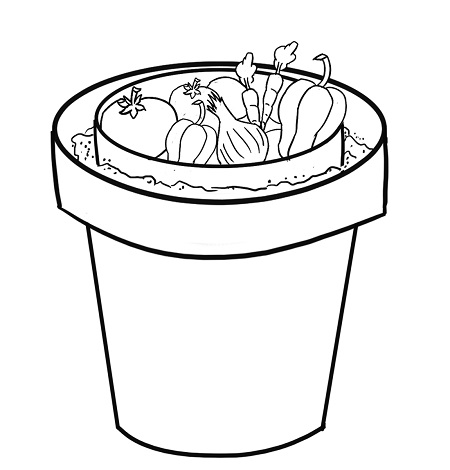 Put the vegetables or other items inside of the smaller pot. You must check the sand regularly to make sure that it is moist. If needed, pour more water into the sand.
