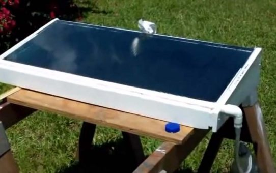 A Cheap Small Homemade Solar Still